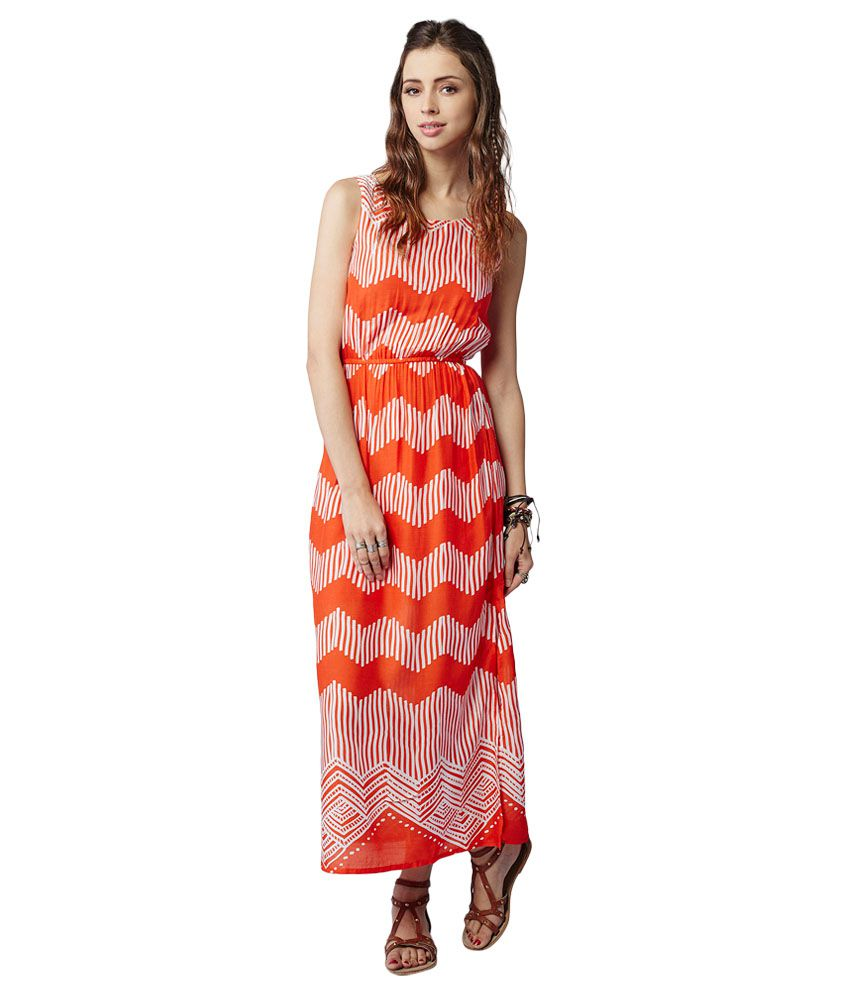 a120d4dcf7d Global desi Orange Maxi Dress - Buy Global desi Orange Maxi Dress Online at Best  Prices in India on Snapdeal