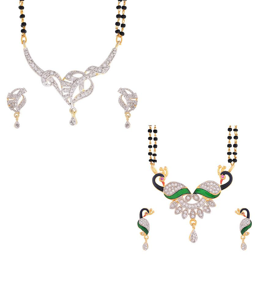 Zeneme peacock Mangalsutra combo offer pack