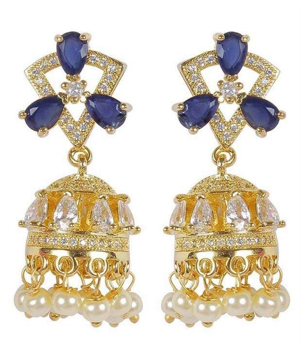 Much More Multicolour Alloy Jhumkis