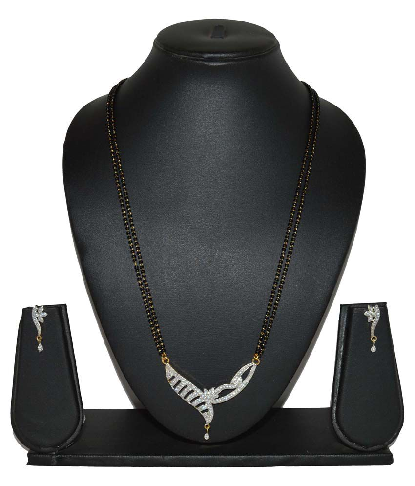Fabzeel Gold And Rhodium Plated 24 Inch Mangalsutra Set