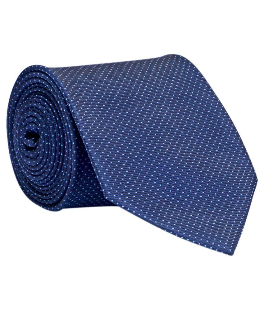 Calvadoss Blue Formal Broad Tie For Men