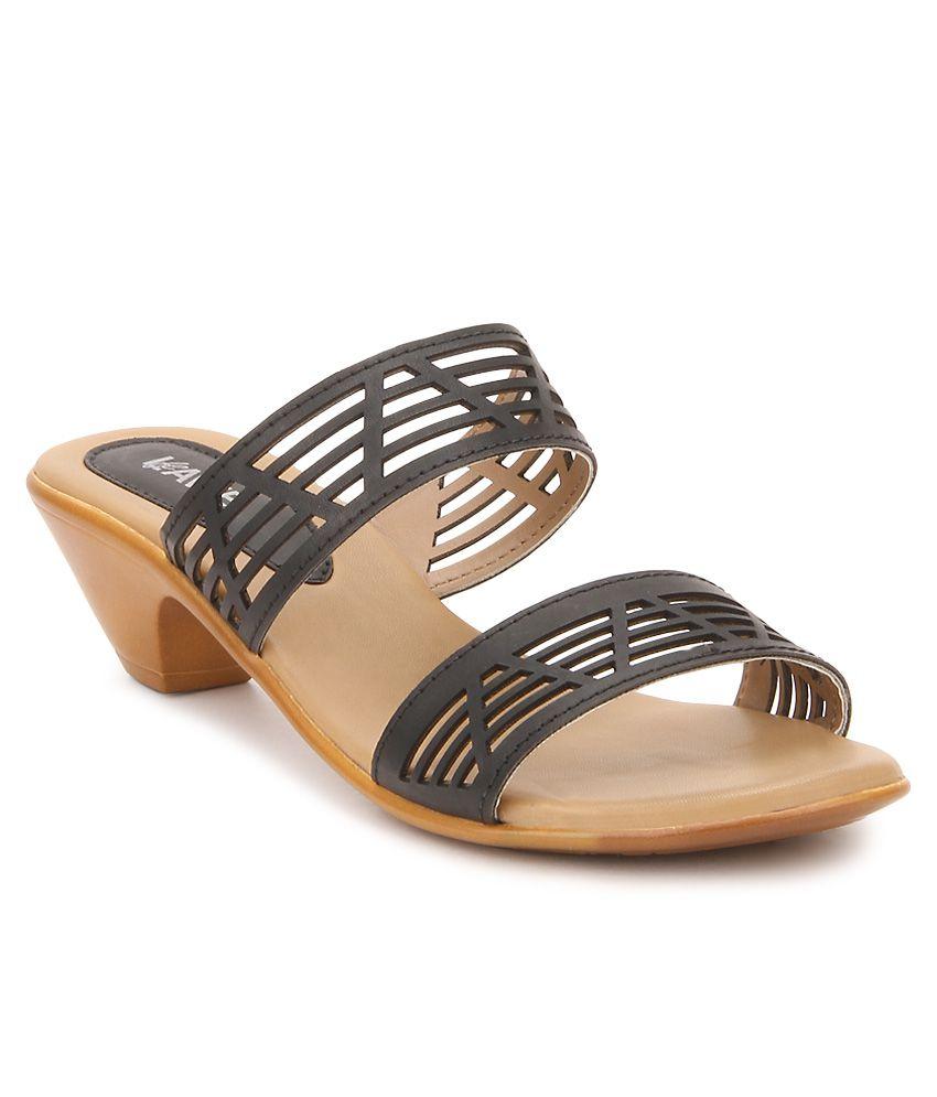 Lavie Black Heeled Slip-Ons