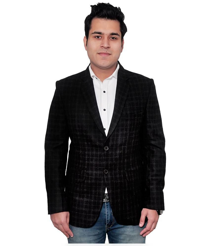 Fabmark Black Casual Blazer