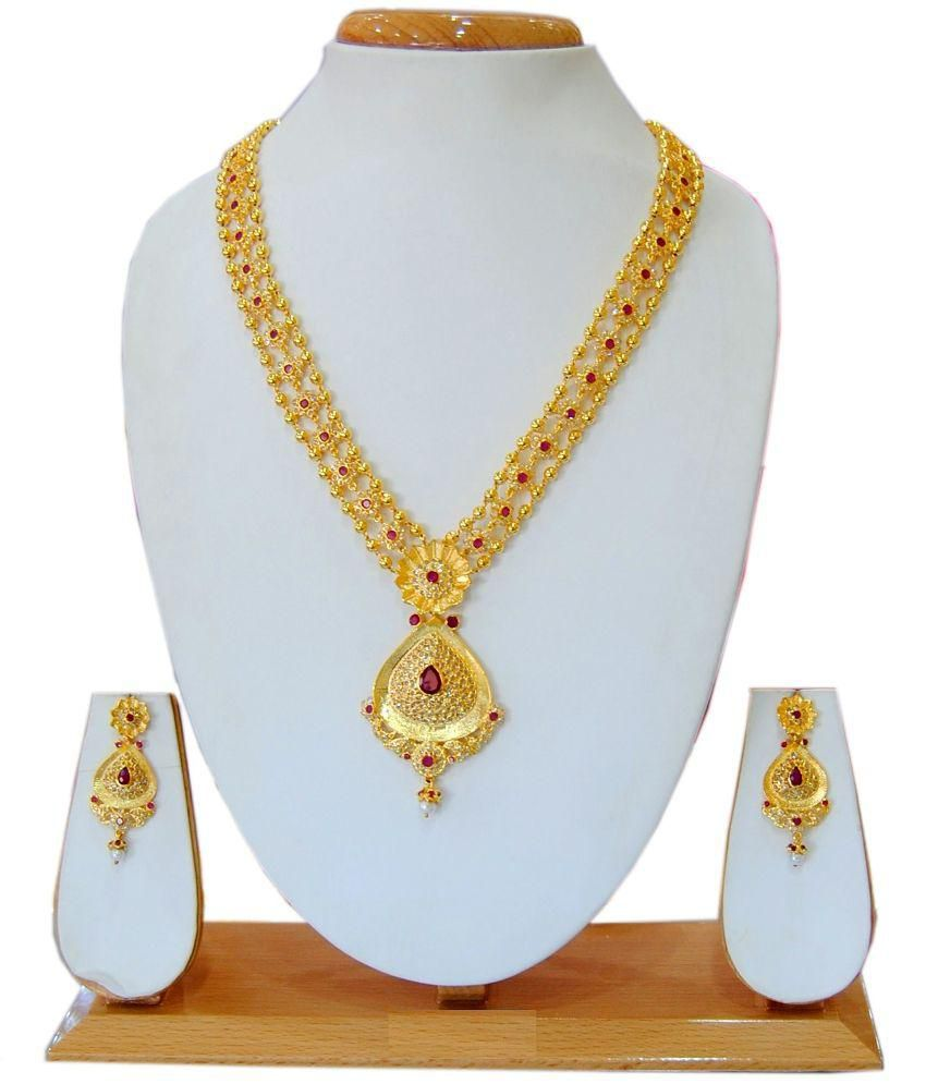 Saheli Art Jewellery Golden Jewellery Set