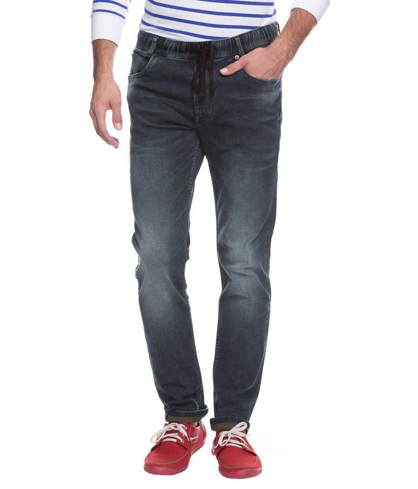 Mufti Black Sport Fit Jeans