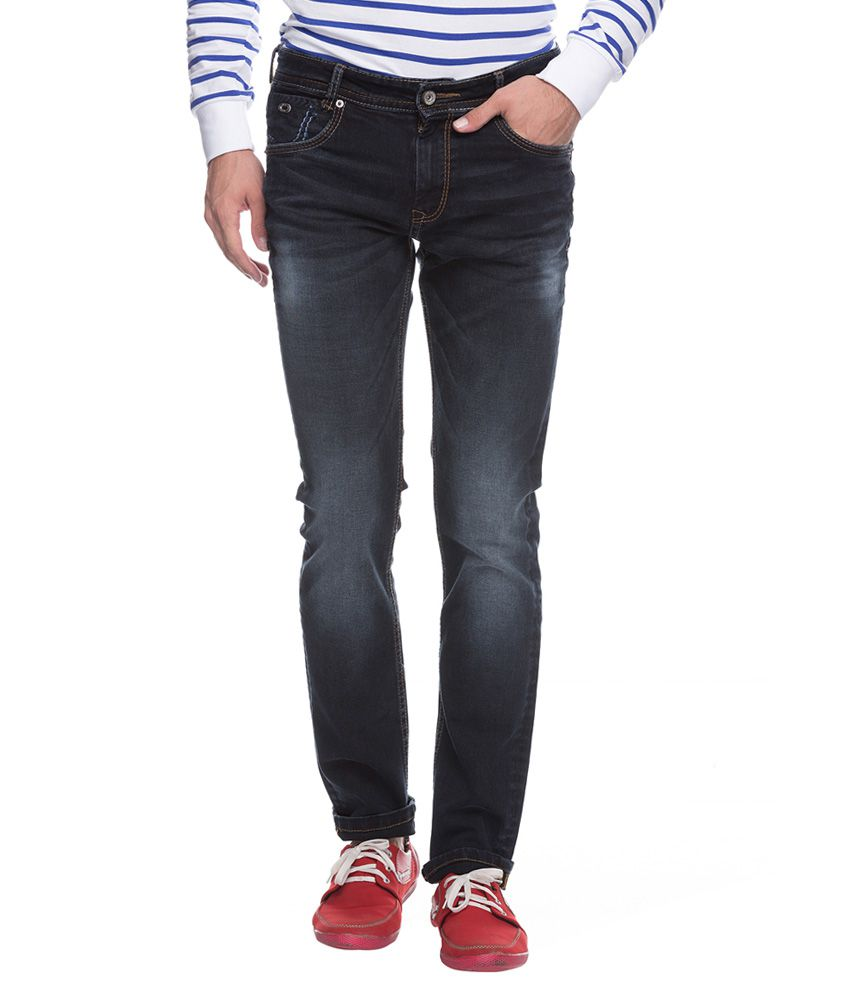 Mufti Black Super Slim Fit Jeans