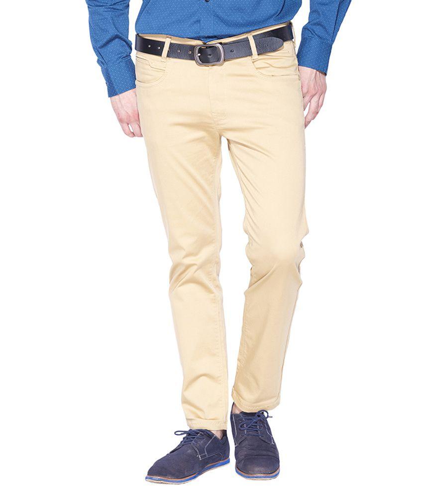 Mufti Khaki Slim Fit Trousers