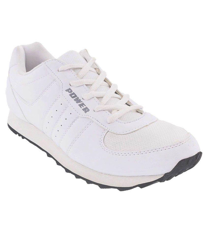 Bata White Running Shoes - Buy Bata