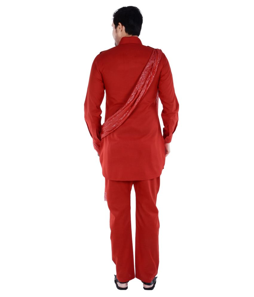 4f53e21537 S9 Men Red Pathani Suits No - Buy S9 Men Red Pathani Suits No Online ...
