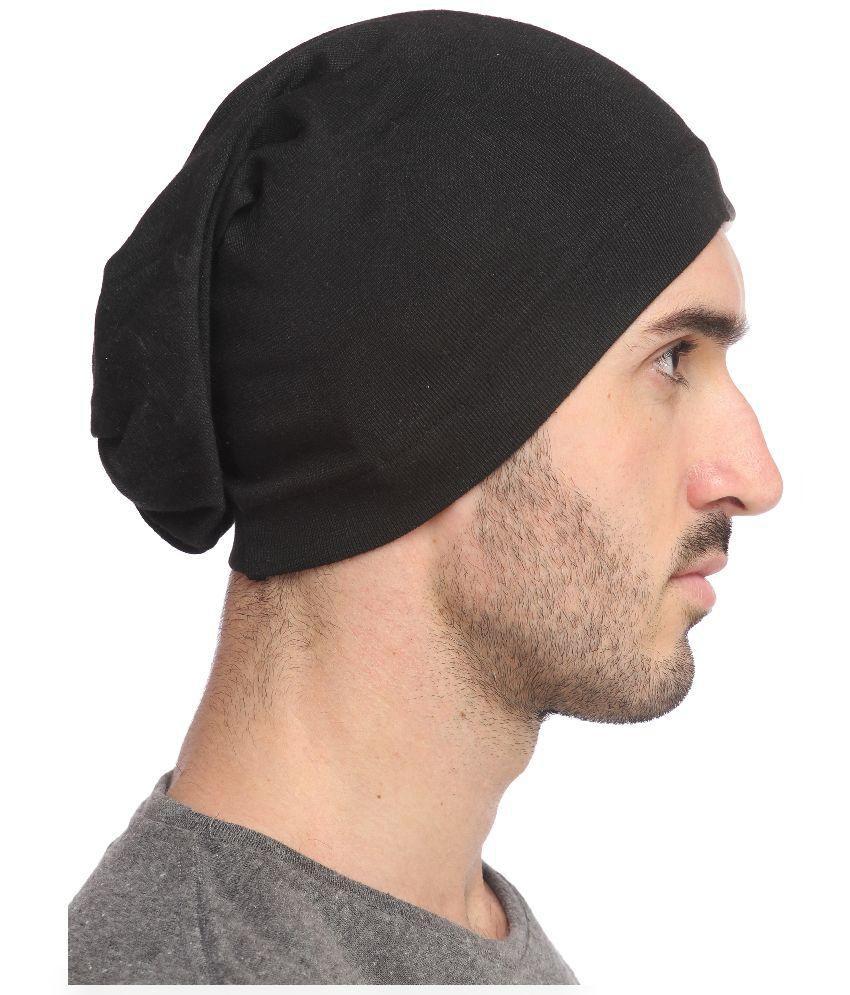 Gudluk Black Plain Cotton Caps Gudluk Black Plain Cotton Caps ... a981aed7a0de