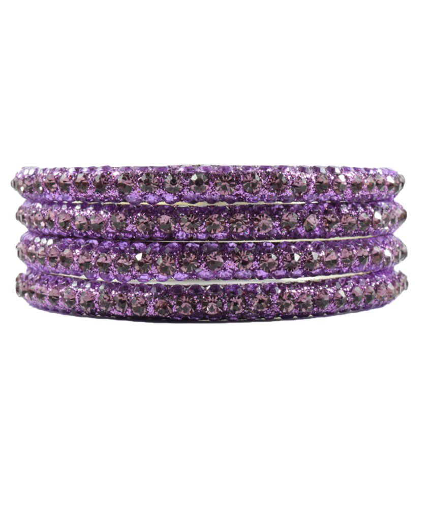 Legginstore Purple Brass Bangle Set
