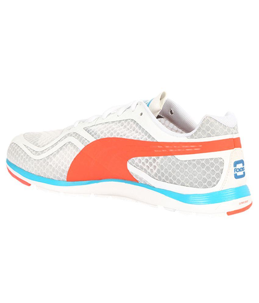 Puma Faas 100 R V1.5 White Running Sports Shoes - Buy Puma Faas 100 ... fed0cb265