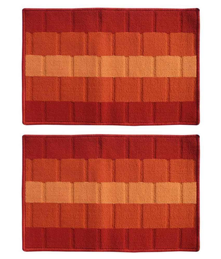 Status Multicolour Polypropylene Shoe Rack Mat - 2 Pcs