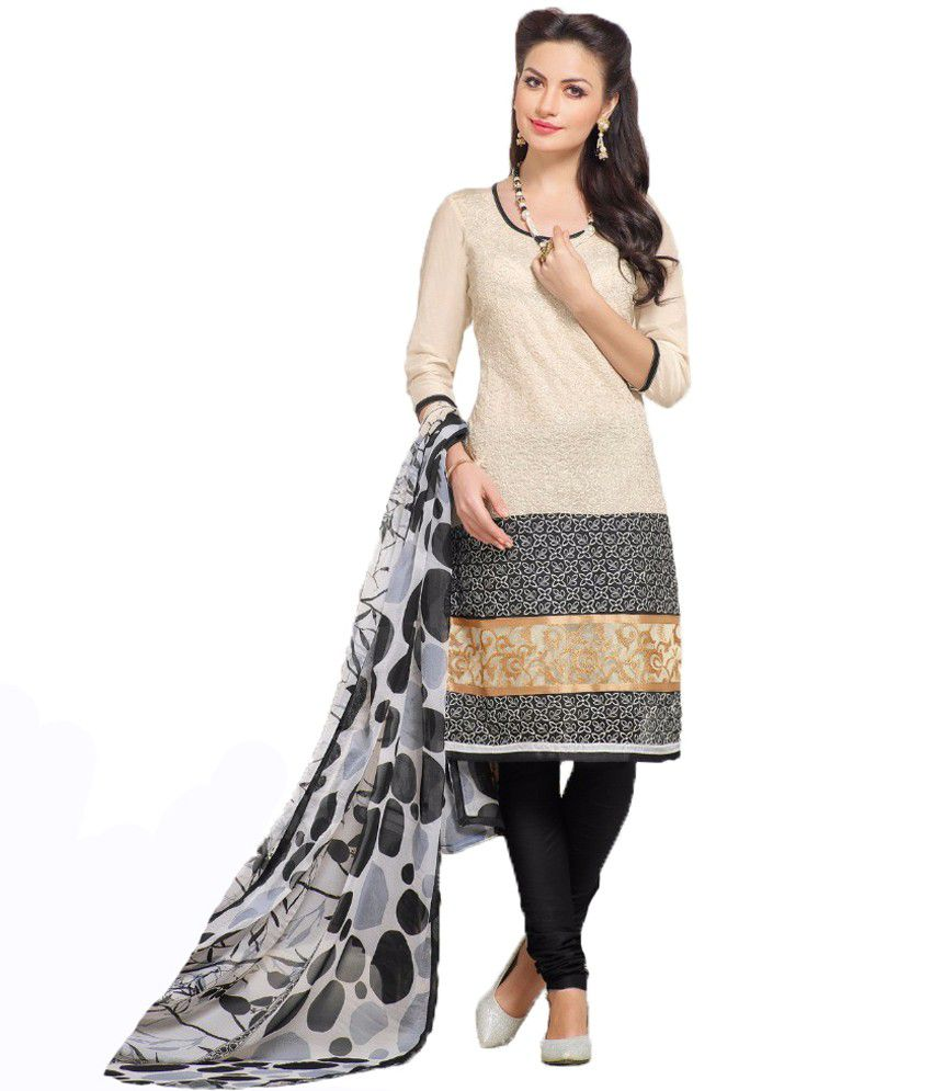 1d81a393a5 Sudev Beige Chanderi Unstitched Dress Material - Buy Sudev Beige Chanderi  Unstitched Dress Material Online at Best Prices in India on Snapdeal