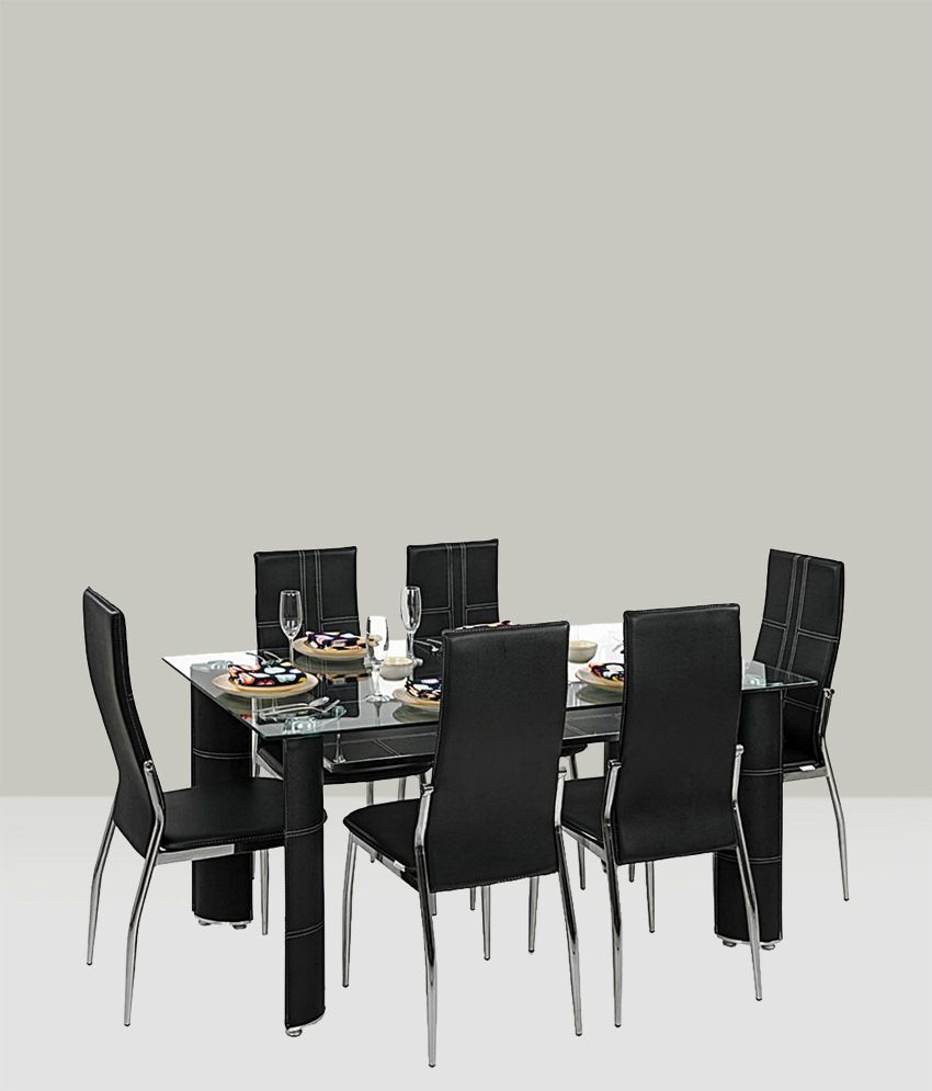 royaloak geneva dining set with 6 chairs modern buy royaloak rh snapdeal com