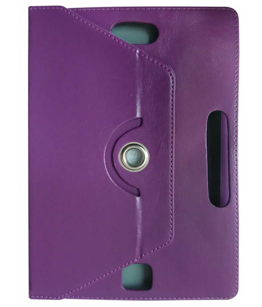 Fastway Flip Cover For Iball Edu-slide I1017-purple