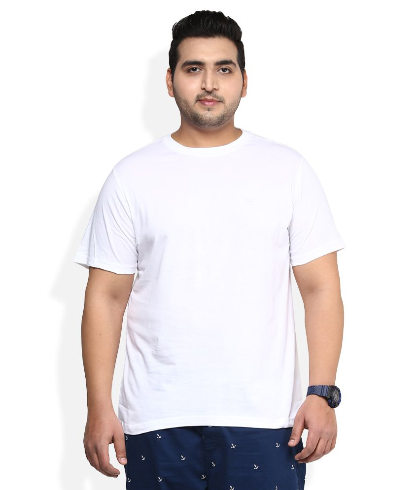 Alto Moda By Pantaloons White Solid T-Shirt