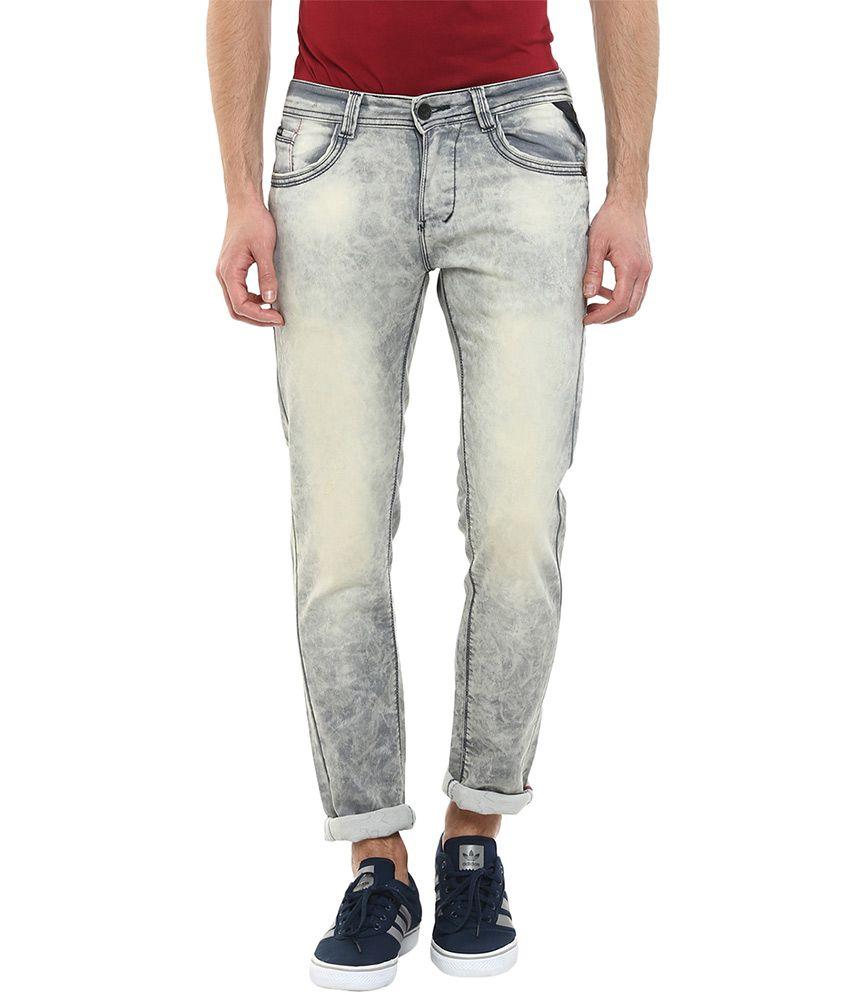 Code 61 Grey Skinny Fit Jeans