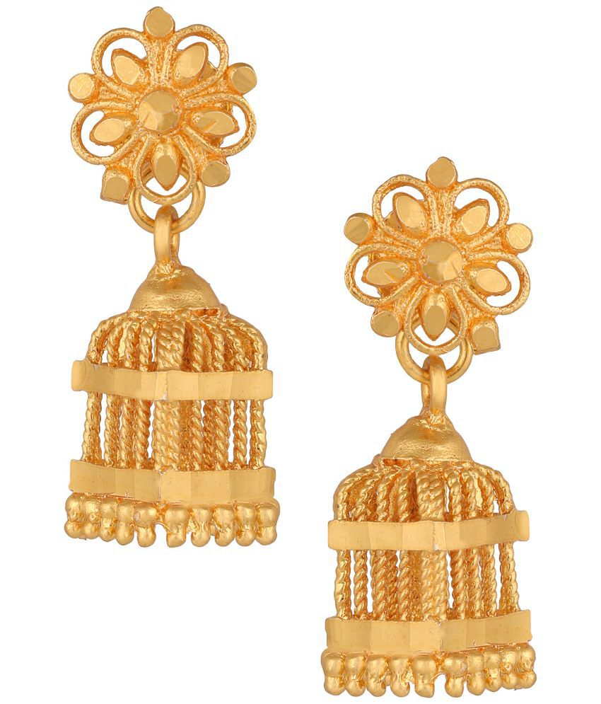 Fashionaya Golden Jhumki