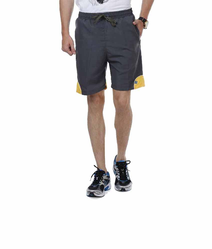NU9 Grey Polyester Shorts