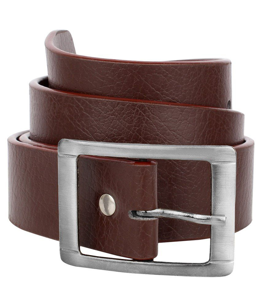 Rocksy Brown Leather Belt For Men