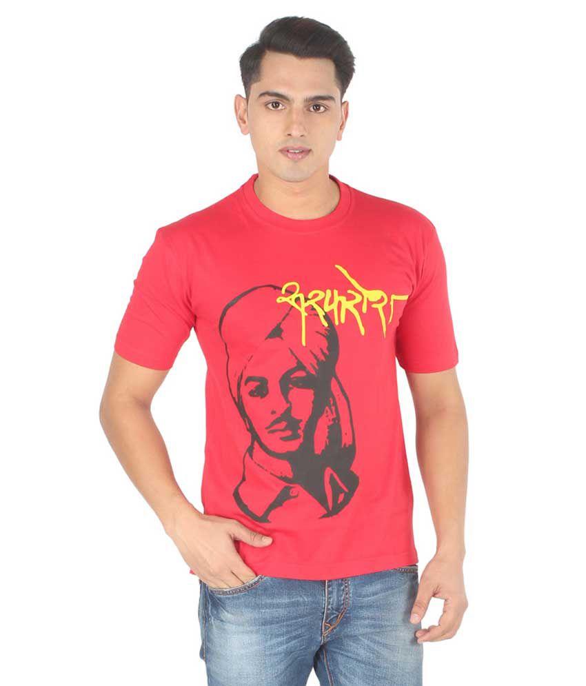Sabudana Red Cotton T-shirt