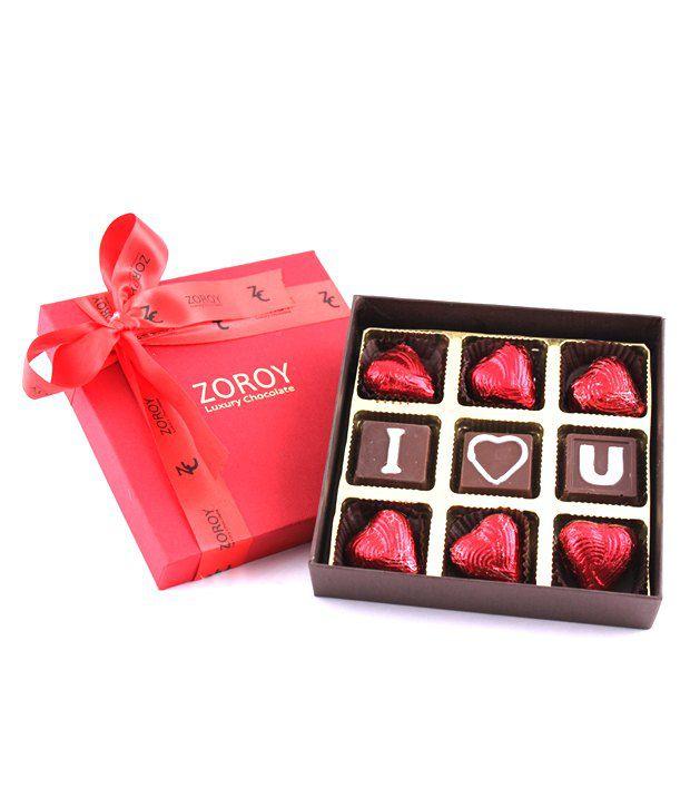 Zoroy Luxury Chocolate Chocolate Box Valentines Day Chocolate Gift Box 100 Gm Pack Of 9 Buy Zoroy Luxury Chocolate Chocolate Box Valentines Day Chocolate Gift Box 100 Gm Pack Of 9 At