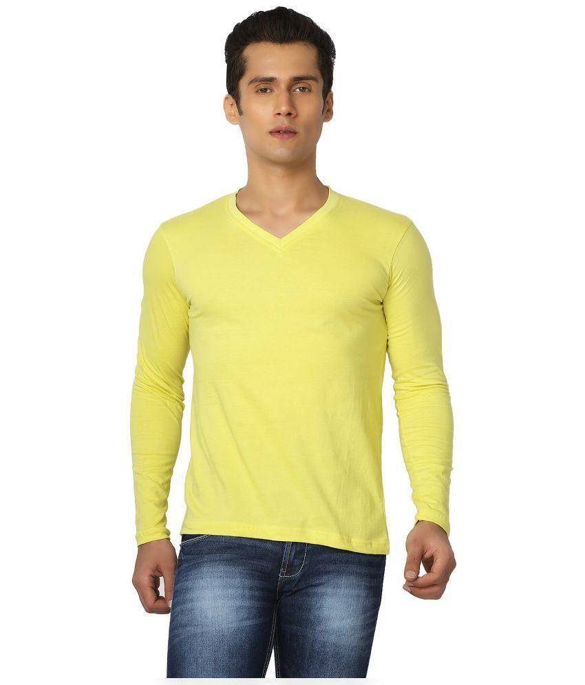 Joke Tees Yellow V Neck T-Shirt