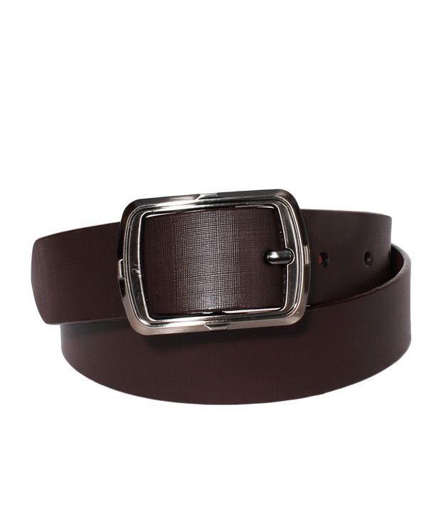 Klaska Divine Brown Leather Formal Belt For Men
