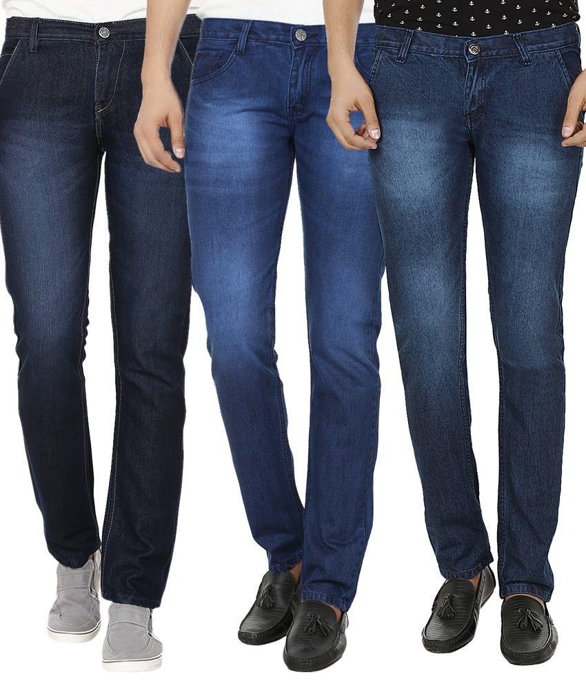 Club Vintage Blue Slim Fit Jeans - Combo Of 3