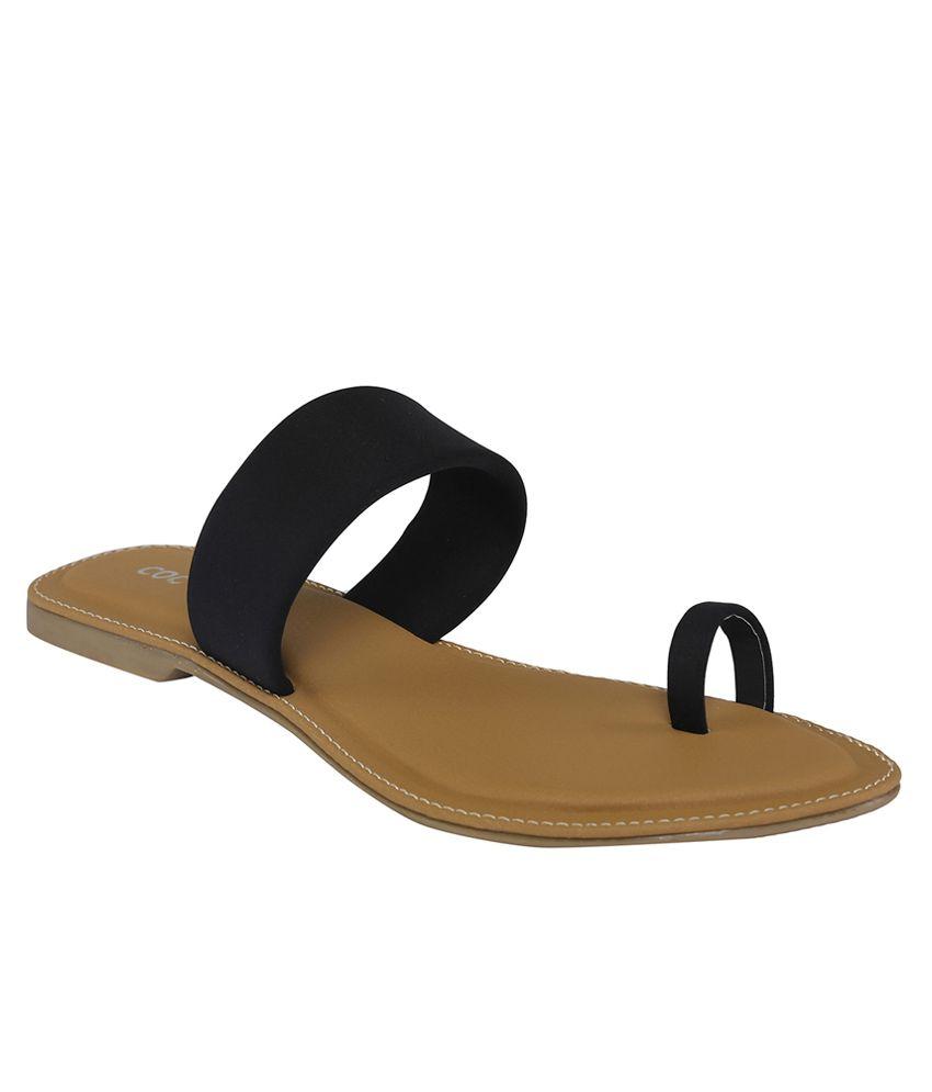 Cocoon Black Flat Slip Ons