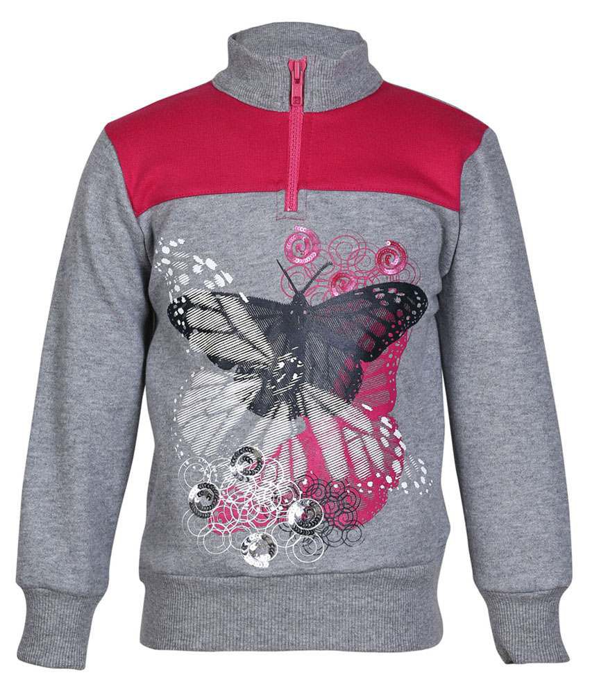 Cool Quotient Gray Sweatshirt For Girls