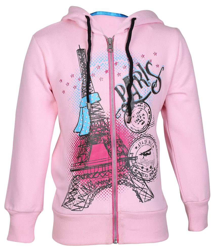 Cool Quotient Pink Hooded Sweatshirt For Girls