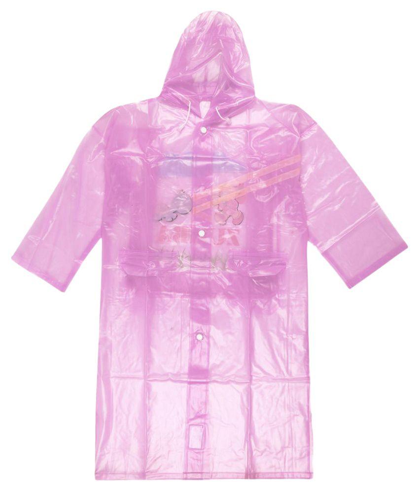 Ollington St. Collection Pink Full Sleeves Rainwear Jacket
