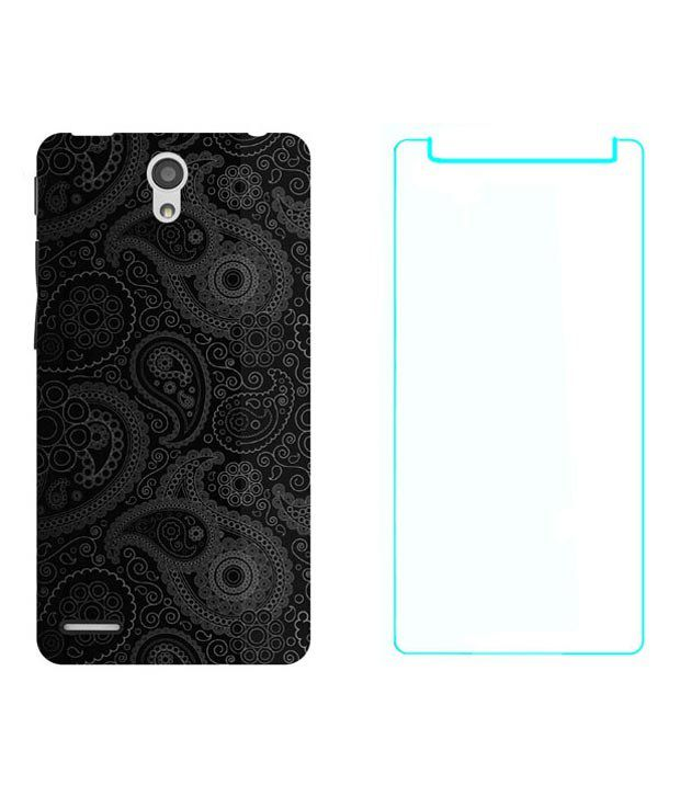 Treecase Printed Back Cover For Infocus M260 With Tempered Glass