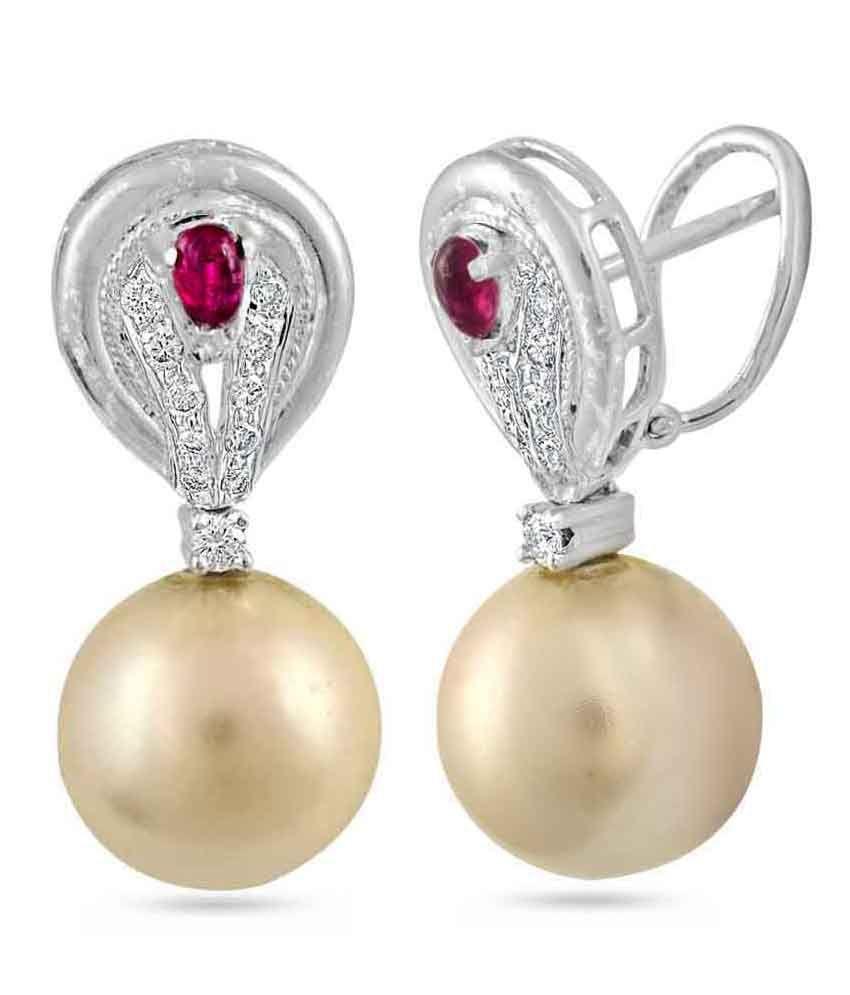 Coriza Trading 18kt Gold Diamond Hanging Earrings