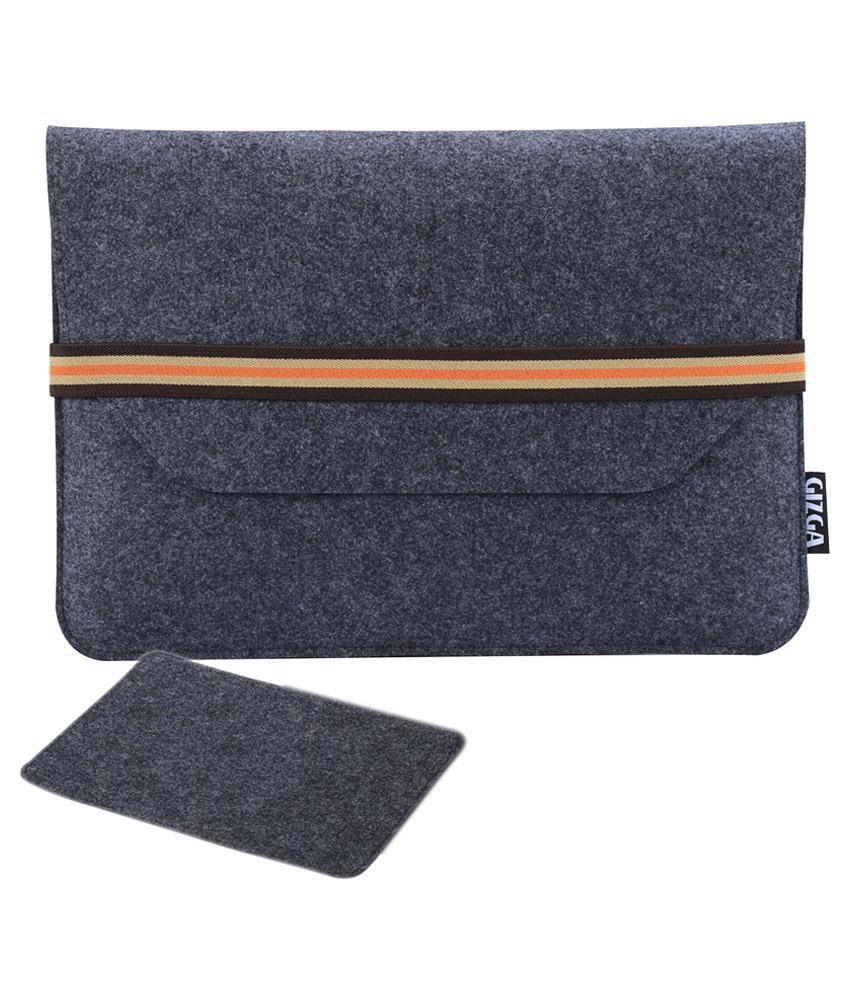 Gizga Grey Laptop Sleeve Bag 14.1 Inch