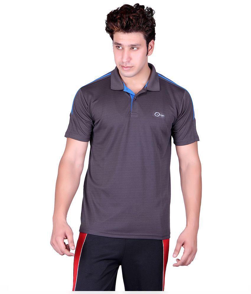 Originsport Grey Polo T-Shirt