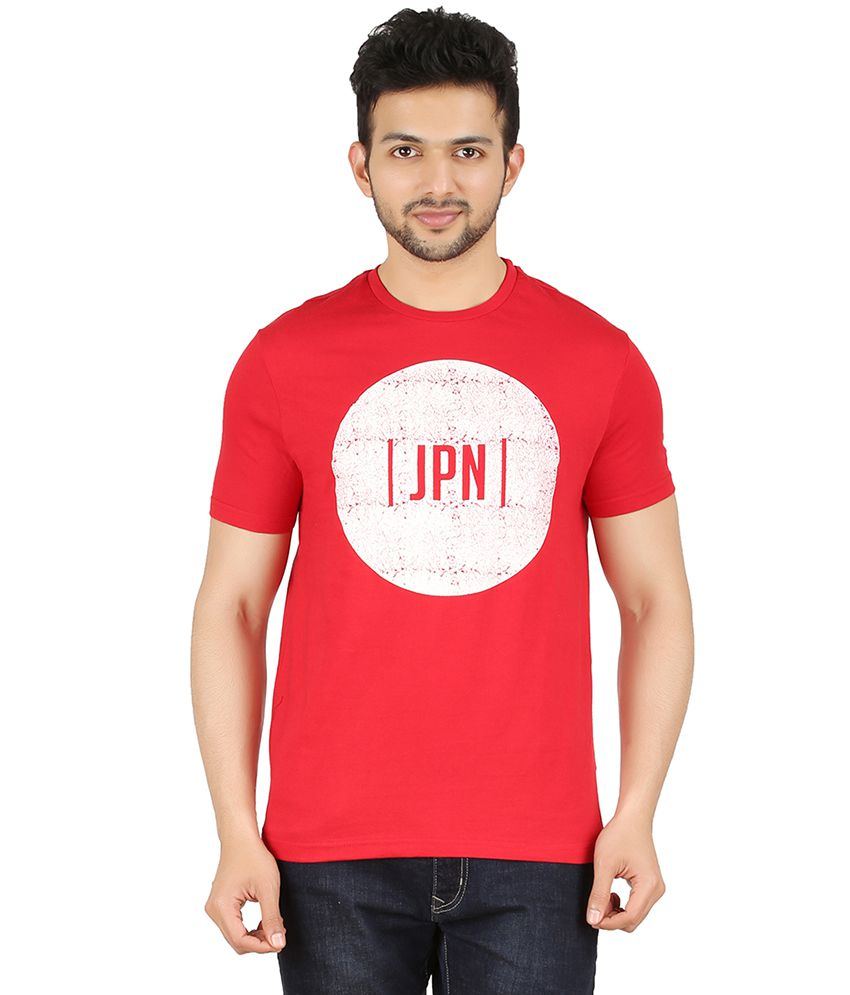 Cipria Red Round Neck T-Shirt