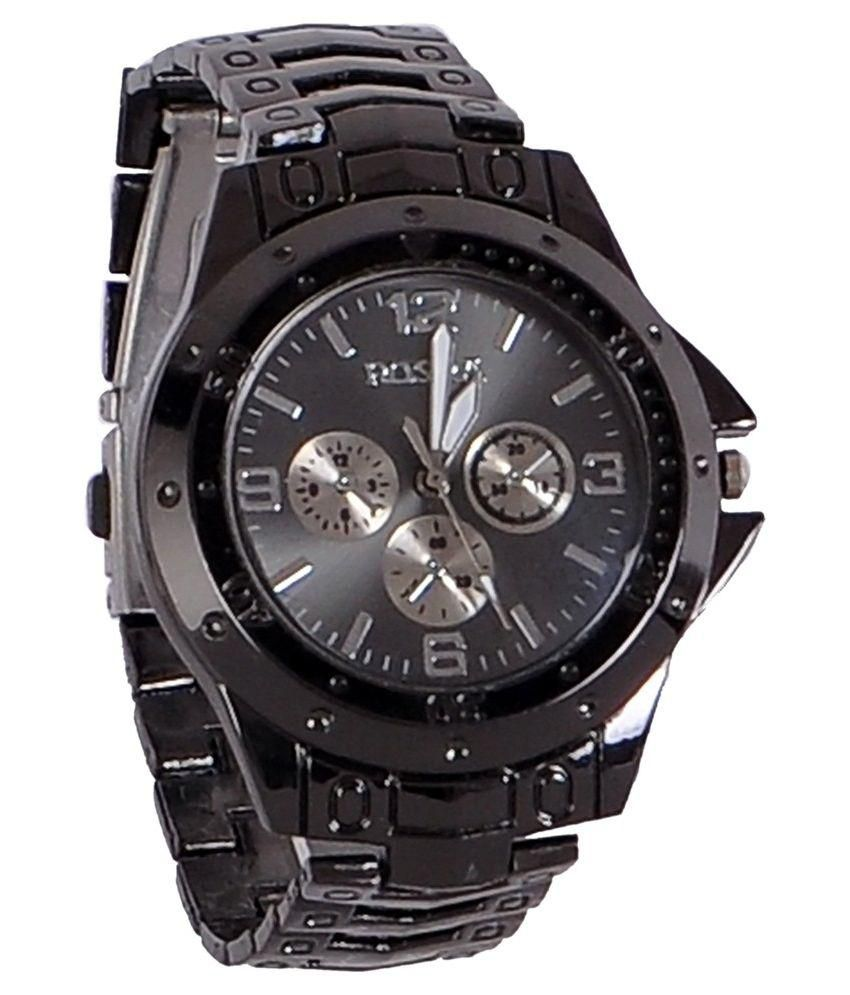 Rosra black analog watch buy rosra black analog watch for What watch to buy