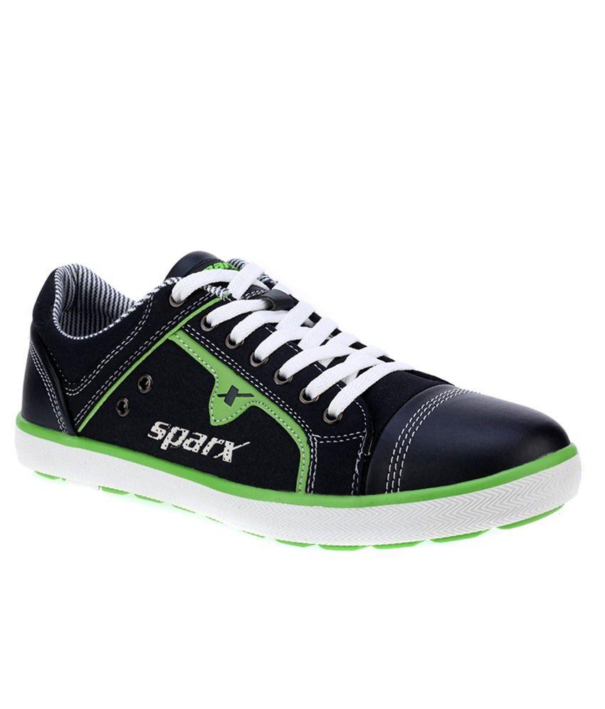 Sparx Black Running Shoes