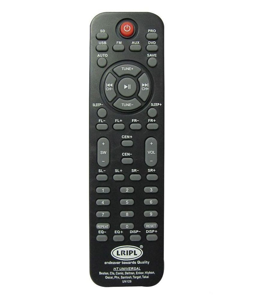 Lripl Black Universal Home Theatre Remote Online At Best Price In India Snapdeal