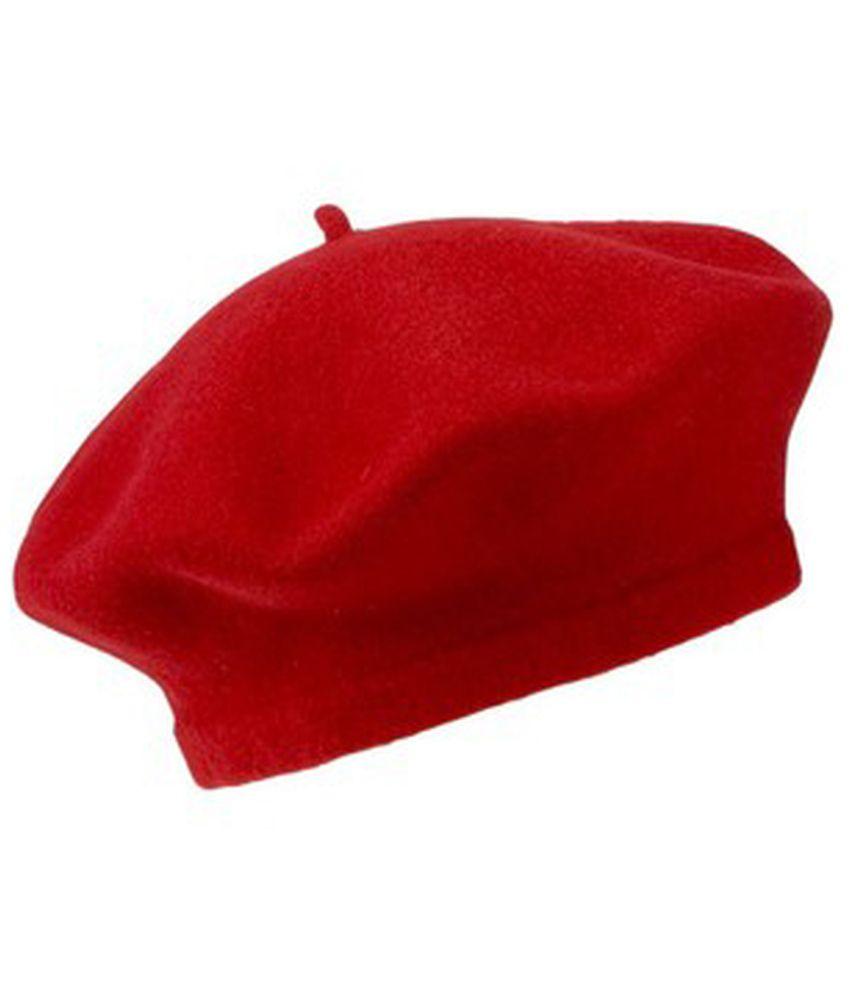 D.v. Saharan & Son Red Woollen Casual Beret - Pack Of 2