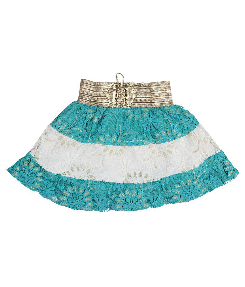 Hunny Bunny Blue And White Net Skirt