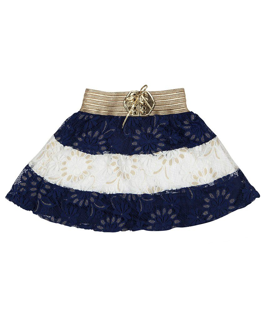 Hunny Bunny Navy And White Net Skirt