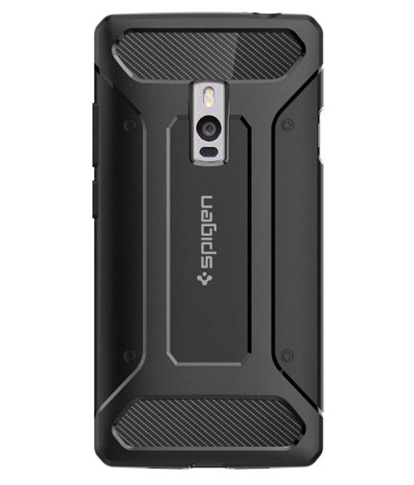 premium selection cadd1 63ae8 Spigen OnePlus 2 Back Case Rugged Armor Black
