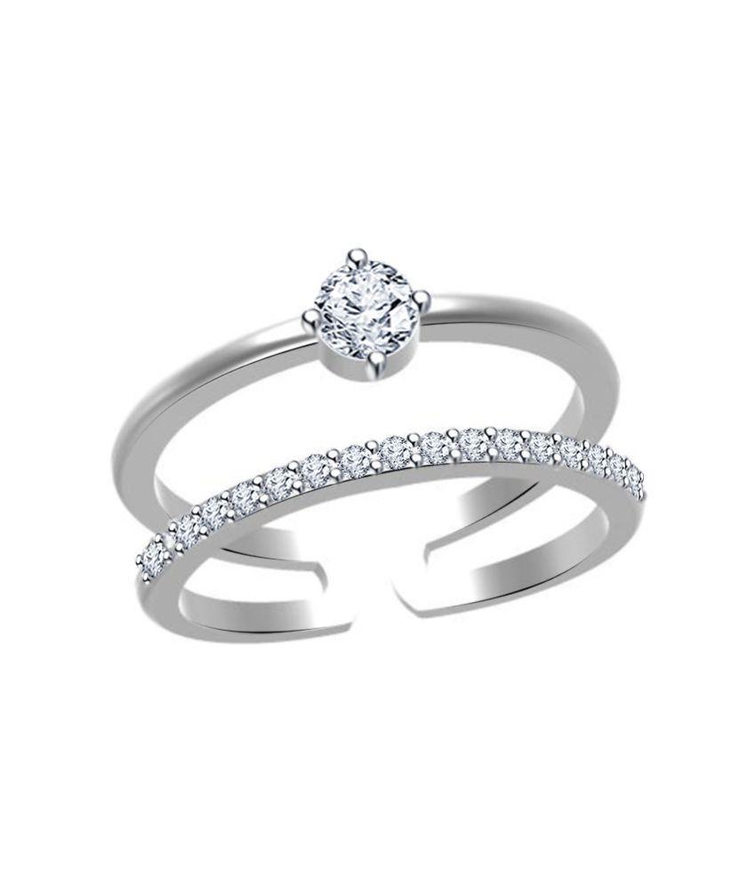 Twisha Silver Alloy Ring