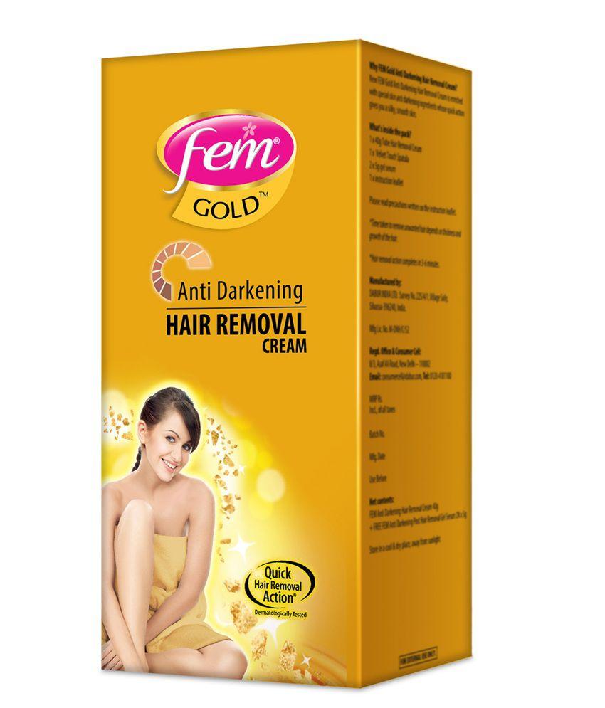 Dabur Fem Antidarkening Hair Removal Cream Gold Jar 40 Gms Buy Dabur Fem Antidarkening Hair Removal Cream Gold Jar 40 Gms At Best Prices In India Snapdeal