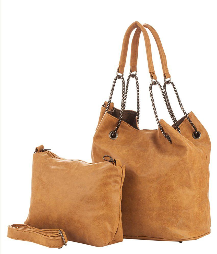 Vero Couture Brown P.u. Tote Bag