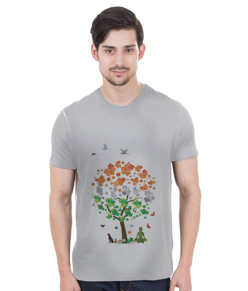 Freecultr Express Multicolor Cotton Blend T-shirt